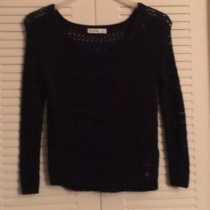 Beautiful navy blue knit work sweater